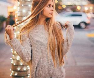 girl, hair, and christmas image