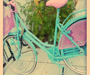 bike, pink, and turquoise image