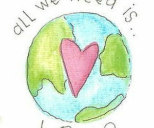 love, earth, and heart image