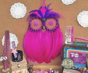 beautiful, dreamcatcher, and owl image