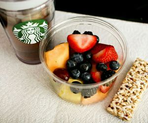 fruit, food, and starbucks image