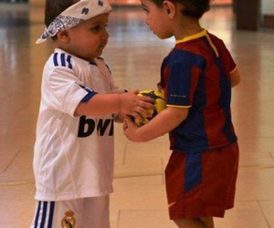 real madrid, Barcelona, and child image