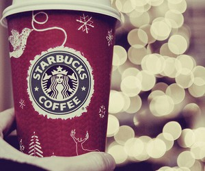 christmas, starbucks, and sweet image