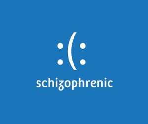 schizophrenic, funny, and text image