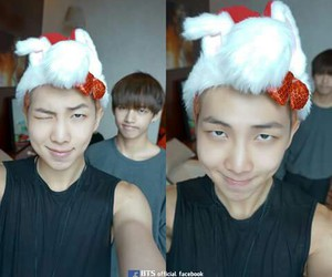 bts, v, and rap monster image