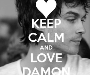 beauty, damon, and black and white image