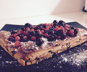 blackberry, blueberry, and cake image