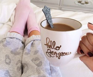 bed, love, and breakfast image
