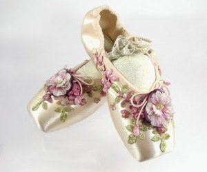 ballet, flowers, and shoes image