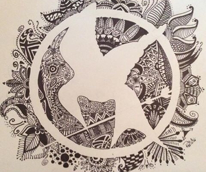hunger games, mockingjay, and art image