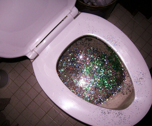 glitter, pink, and wc image