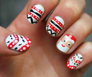christmas, nails, and tutorial image