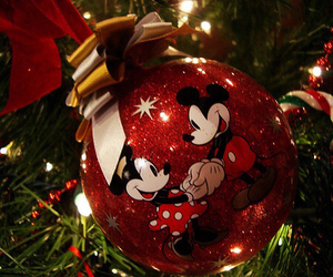 christmas, decorations, and mickey mouse image
