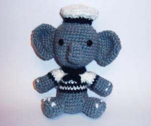 amigurumi, elefante, and amigurumicrochet image