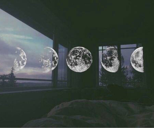 grunge, moon, and room image