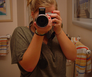 bathroom, me, and camera image