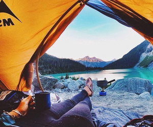camping, travel, and mountains image
