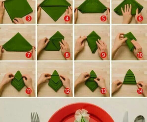 diy, christmas, and napkin image