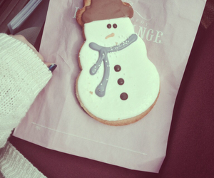 christmas, cookie, and snowman image