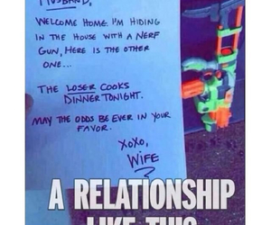 funny, wife, and nerf image