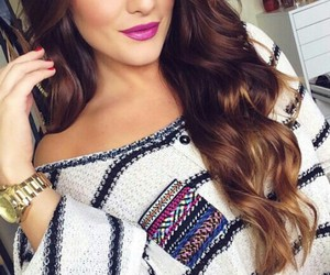 brunette, gorgeous, and hair image