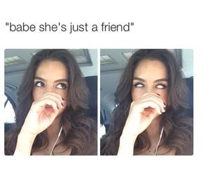 funny, friends, and babe image