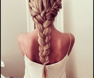 blond, braids, and fashion image