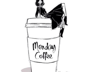 coffee, monday, and cafe image