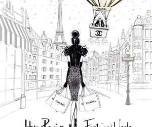 chanel, paris, and drawing image