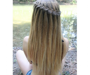 beautiful hair, blond, and braids image