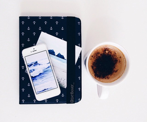 coffee, iphone, and style image