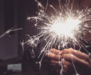 birthday, fire, and firework image