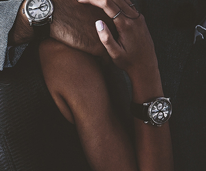 boy, couple, and watch image