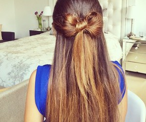 bow, hair, and lovely image