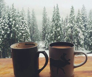 coffee, winter, and love image