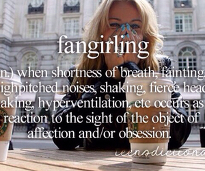 fangirling, fangirl, and fan girl image