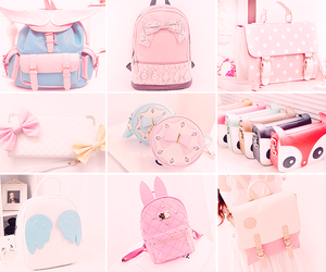 pink, bag, and kawaii image