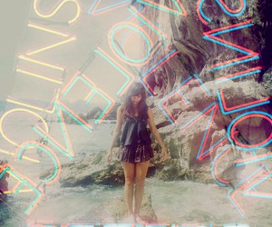 Film Photography, girl, and neon image