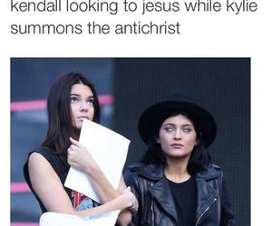 kendall jenner, kylie jenner, and funny image