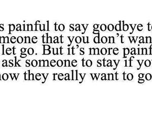 goodbye, quote, and pain image