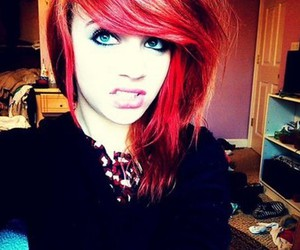 blue eyes, girl, and red hair image