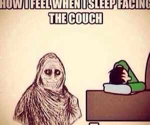 funny, couch, and sleep image