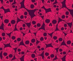 skull and pink image