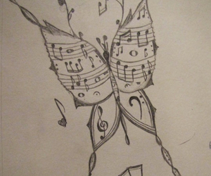 music, art, and butterfly image