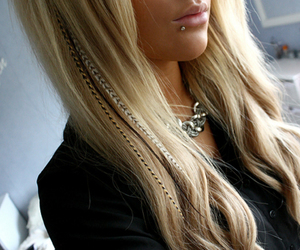 blonde, fashion, and feather image