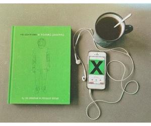 coffee, music, and ed sheeran image