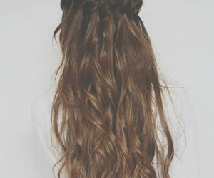 cabelo, long hair, and style image