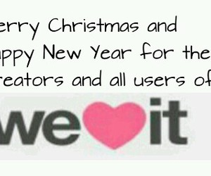 happy new year, merry christmas, and we heart it image