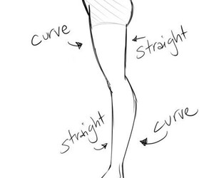 curve, legs, and fitness image