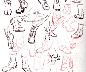 shoes and drawing image